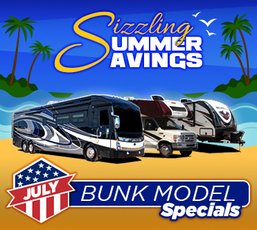 Sizzling Summer Savings July Specials Bunk Model